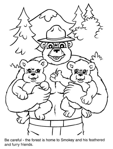 Download Smokey The Bear Coloring Pages Collection Smokey The Coloring Pages