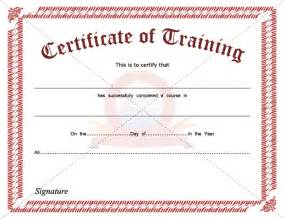 Training Certification Template 8 Best Images Of Hours Of Training Certificate Template