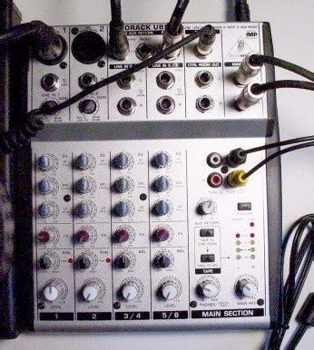 Dan Gambar Mixer Behringer my podcasting setup