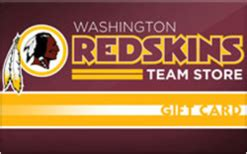 Redskins Gift Card - washington redskins store gift card check your balance online raise com