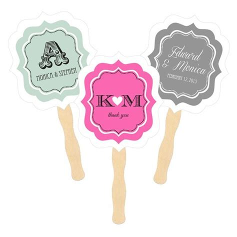personalized fans for weddings personalized fans for weddings paddle style