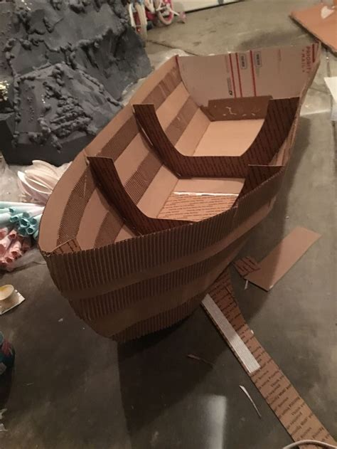 How To Make A Big Boat Out Of Paper - 25 best ideas about cardboard box boats on