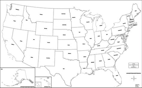 large blank us map image gallery large printable us map