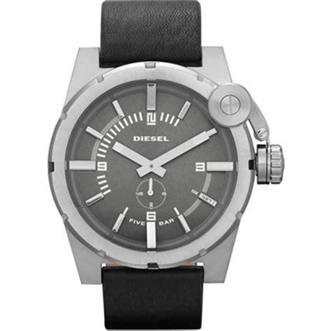 Diesel Leather Kotak Black Silver diesel s and s watches