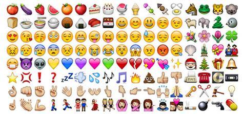 emoji recognition chart significado de los emoticonos de whatsapp lista con