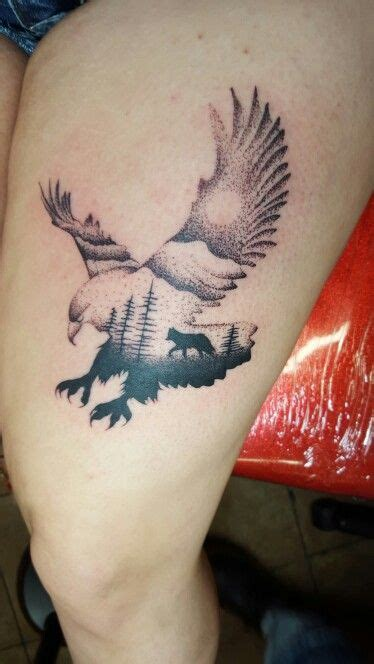 My Wolf And Eagle Tattoo Tattoos Pinterest Eagle Eagle And Wolf Tattoos