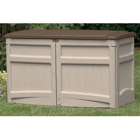 patio storage shed suncast 174 horizontal storage shed 138480 patio storage