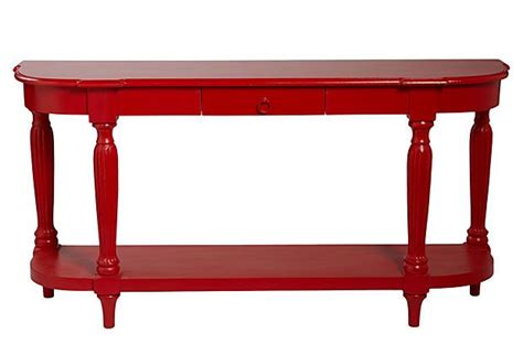 red sofa table james console table shiny red