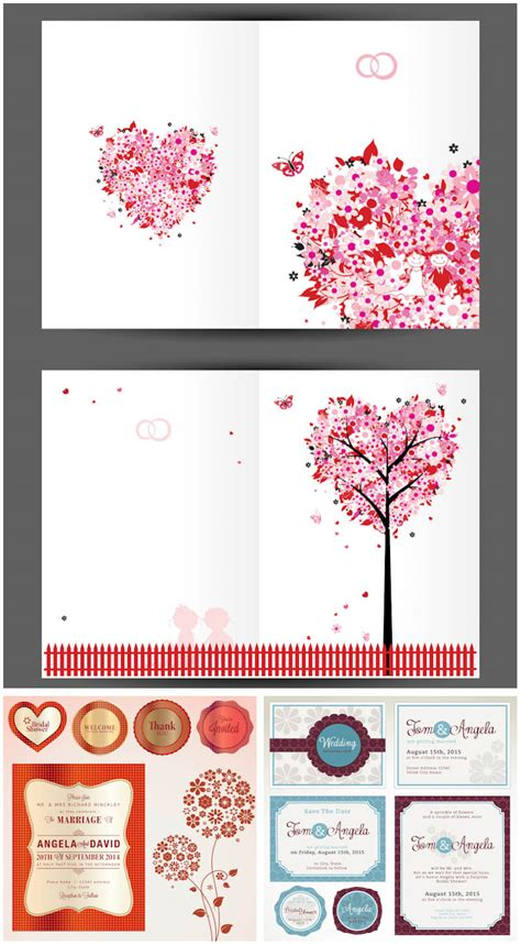 Free Date Card Templates by Vector Wedding Invitations Vector Graphics