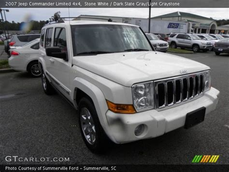 2007 Jeep Commander White White 2007 Jeep Commander Limited 4x4 Slate