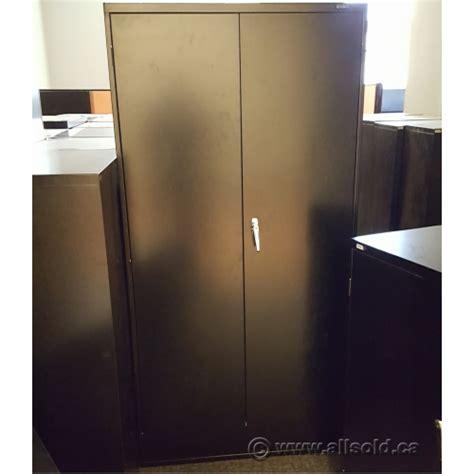 Metal 2 Door Storage Cabinet Global Black 36 X 72 2 Door Metal Storage Cabinet Locking Allsold Ca Buy Sell Used Office