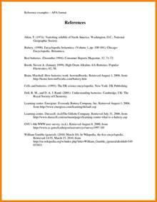 7 apa format bibliography exle packaging clerks