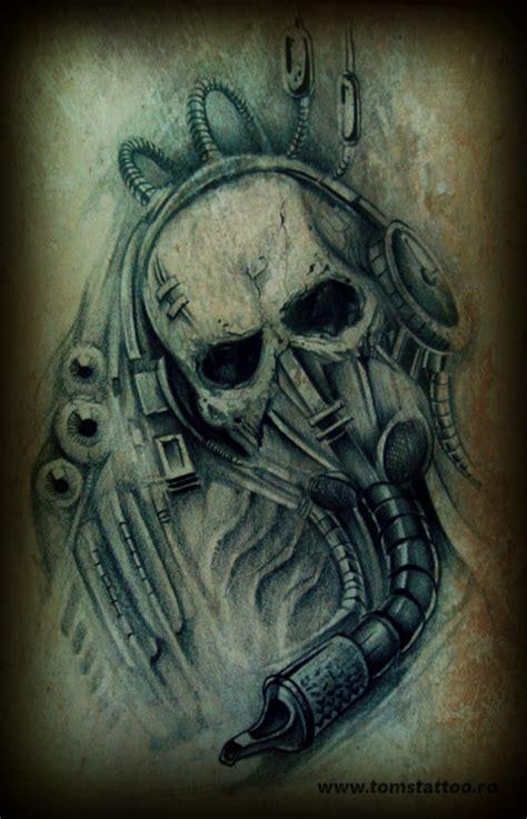 skull tattoo by clodiust on deviantart