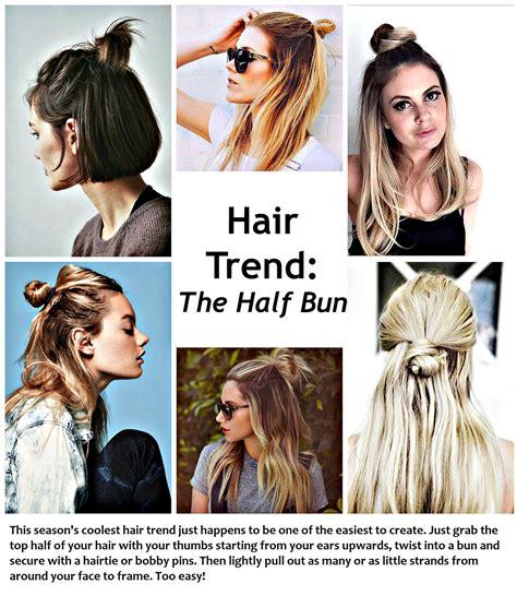 half trend messy half bun what would karl do