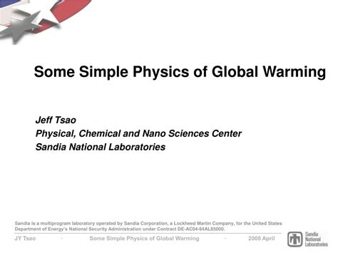the simple physics of energy use books ppt some simple physics of global warming powerpoint