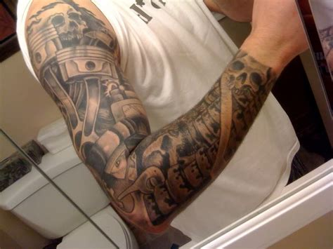 automotive tattoo sleeve 23 nice car tattoos on sleeve