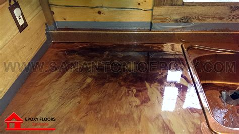 metallic epoxy flooring images in san antonio tx