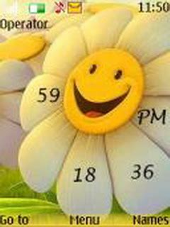 flower clock themes software download flower clock nokia theme mobile toones
