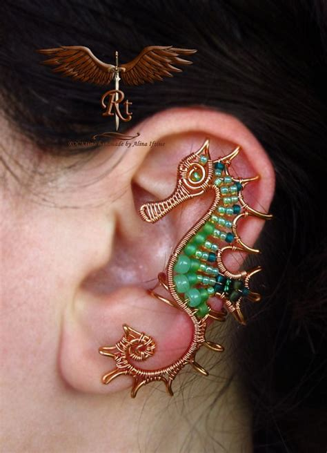 make jewelry at home for money wire wrapped ear cuff artistry by rocktime the beading