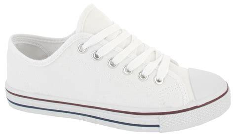 womens flat pumps shoes canvas plimsolls boys