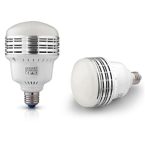 5500k Light by Neewer 25w 5500k Led Daylight Balanced Bulb L For Photography Lighting Ebay