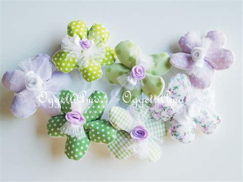 fiori portaconfetti 20 fiori portaconfetti in cotone a quadretti pois e fiori