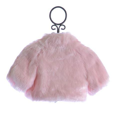 Labella Denim Gamis Reguler Bolero Pink biscotti faux fur shrug in pink 3t 4t 6 6x