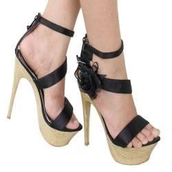 Promo Murah Sandal High Heels Wanita Coklat Kulit Imitasi Everflow Kt arida azra sandal high heels hitam coklat putih hitam