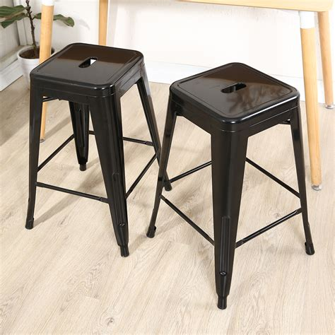 height of bar stools for 45 counter set of 2 metal bar stool counter height home 24 quot 26 quot 30
