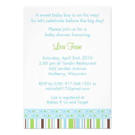 free custom baby shower invitations mod stripe dot custom baby shower invitations zazzle