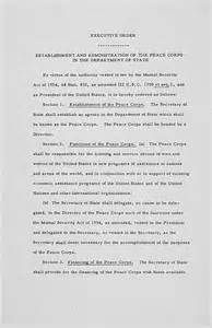 Peace Corps Application Essay Exles by Founding Documents Of The Peace Corps