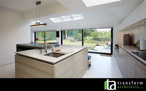 kitchen extension plans ideas modern kitchen and large sliding doors transform