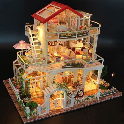 the doll house 5 hoomeda 13845 be enduring as the universe diy dollhouse with music light cover miniature model