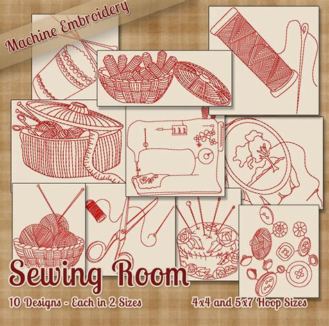 embroidery design ltd sewing room redwork embroidery machine designs 10 patterns 2