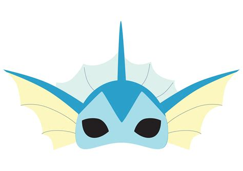 printable pokemon mask vaporeon pokemon printable mask by drearts on etsy
