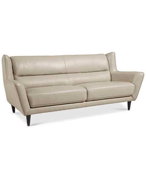 Macys Leather Furniture by Delena Leather Sofa Only At Macy S Furniture Macy S