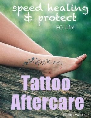 tattoo aftercare recipe treat spider veins with essential oils