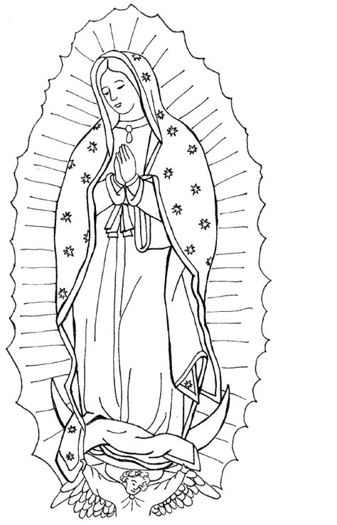 Coloring Page Of Virgin Mary | homeschool lite our lady of guadalupe