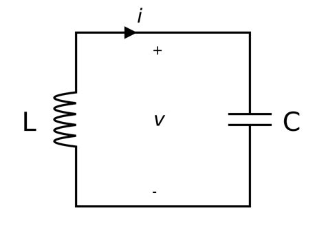 resonant frequency capacitor inductor parallel lc circuit