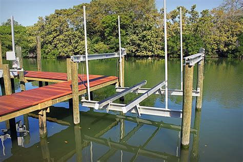 boat dock lifts build boat share how to lift a boat dock