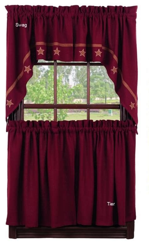 franklin curtains burlap swag rustic curtains by ben franklin online
