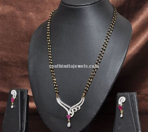 designs of black bead chains imitation black beaded necklace design south india jewels