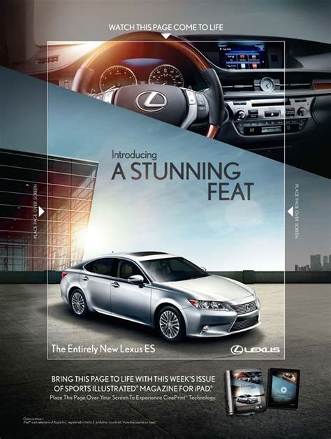 lexus ads brandchannel lexus brings magazine print advertising to life