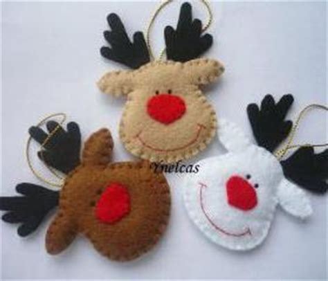 Kerajinan Flanel Cookie Set rudolph the nosed reindeer felt ornament set of 3 on luulla