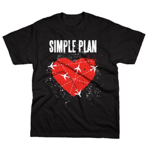 simple plan jet lag on black t shirts official merch powered by merch direct