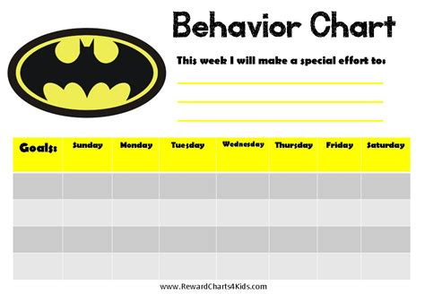 free printable weekly chart for boys
