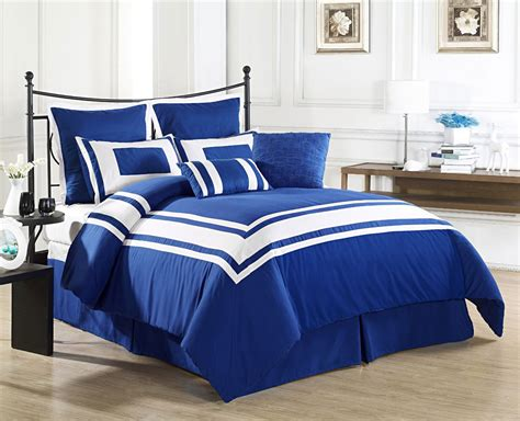 blue bed set the lux decor queen blue comforter set reviews home best