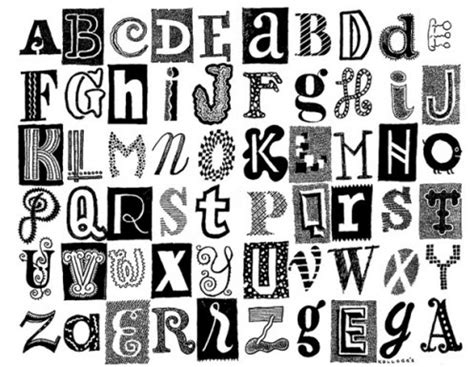 Letter Different Styles different styles of letters different types of