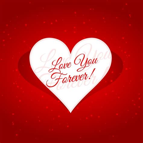 imagenes i love you forever love you forever message in heart vector free download