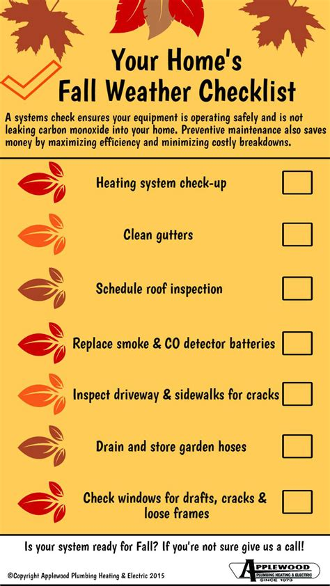 12 fall maintenance tips for your home abbate insurance your home s fall weather checklist infographic applewood
